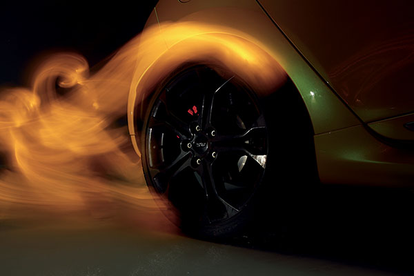 light painting sur voiture