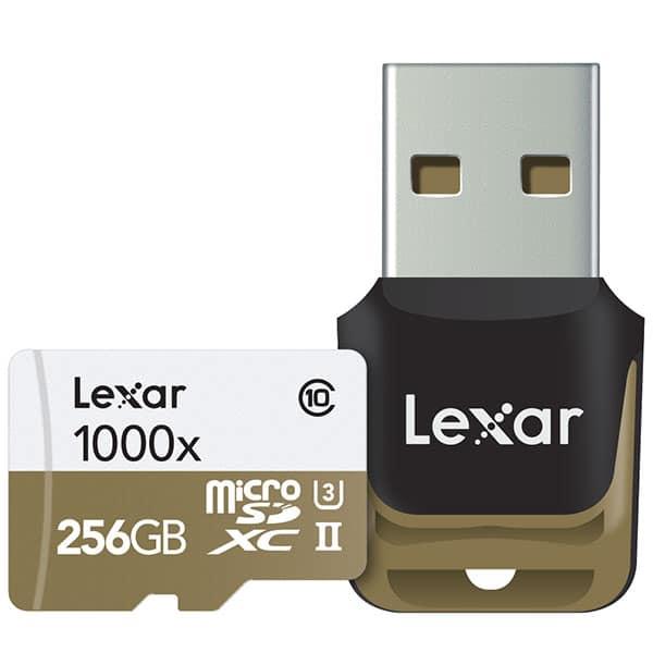 Carte Lexar microSD 1000x 256Go et lecteur copy