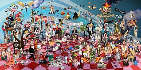 Didier GIANELLA - Horizons & die 60 x 120 cm - Collage numérique